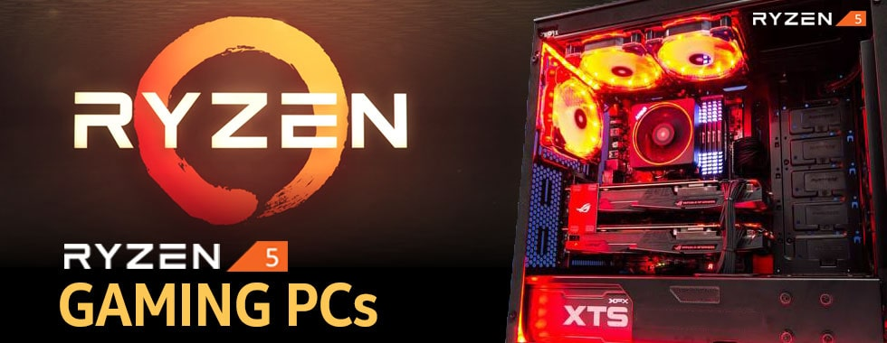 amd ryzen 5 gaming pc banner