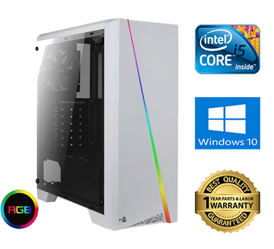 AEROCOOL Cylon RGB white gaming pc